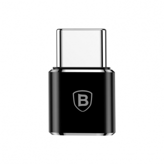 Adapter Baseus Micro USB do USB typu C czarny