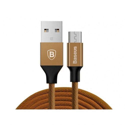 Kabel Micro USB 2.0 Baseus Yiven 1,5m 2A brązowy